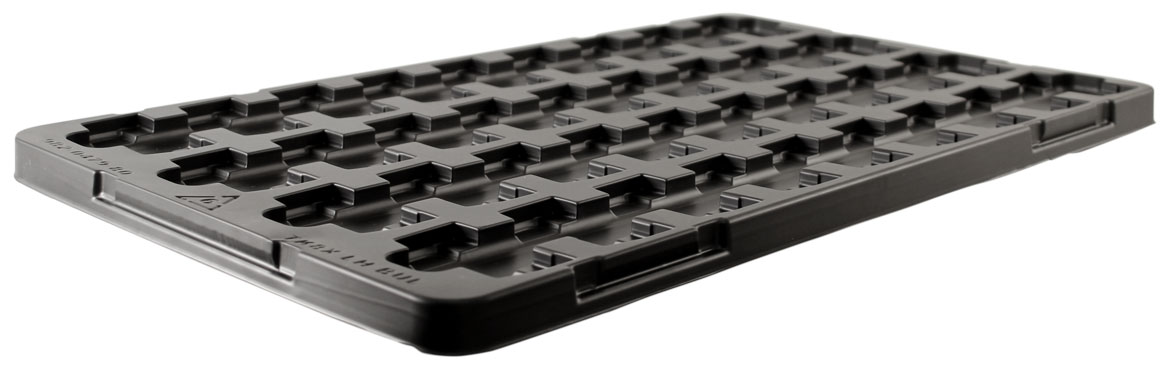 ESD plastic packaging trays